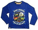 LEGO Ninjago Kollektion 2017 Langarmshirt 98 104 110 116 122 128 134 140 Shirt Jungen Top Blau (104-110; Prime, Blau)