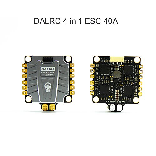 RCmall DALRC Motor 4 in 1 ESC 40A 3-5S Blheli_32 Brushless ESC DSHOT1200 Fertig W / 5V BEC für FPV Freestyle RC Racing Drone Quadcopter Rahmen -