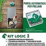 Porta Automatica crepuscolare per pollaio Kit Logic 3 (Alluminio, Porta Misura L cm 33x50h)