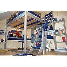 lit mezzanine 140x200. Black Bedroom Furniture Sets. Home Design Ideas