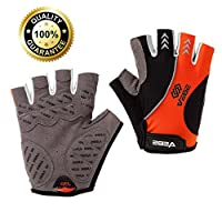 VEBE Mens Cycling Gloves Bicycle Biking Breathable Gloves - Non-Slip/Shock Absorption/Mountain Bike Accessories