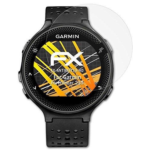 atFoliX Schutzfolie kompatibel mit Garmin Forerunner 235 Bildschirmschutzfolie, HD-Entspiegelung FX Folie (3X)
