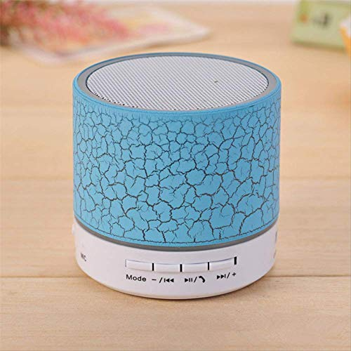 er Mini tragbare LED-Licht Lautsprecher Wireless A9 Stereo-Audio-Musik-Player Soundbar Tf USB-Lautsprecher Player-Sets hellblau ()