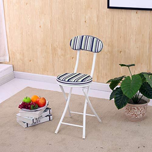 Rangement pliant portatif extérieur Chaise pliante commode Tabouret à la maison Restaurant Arrière dinant la chaise simple
