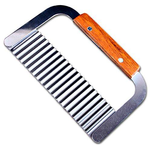 Edelstahl Kartoffel-Messer Crinkle Cutter Cutter garnieren Corrugated Ripple Französisch FritesMesser Pastry Kartoffel-Scherblock-Kuchen-Werkzeuge