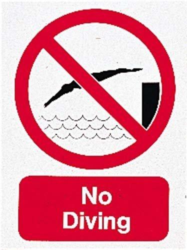 New Schwimmen keine Tauchen Schild POOL Dive Alert Warnschild Schwimmen Vorsicht klein