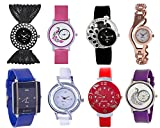 #7: Shree Multicolor Analog Watch for Women and Girls - Pack of 8