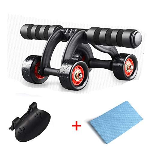 CX TECH 4 Rad Abs Workout Machine Heim Gym Übung Roller Schwere Bauchtraining Rad Trainingsgerät Körper Fitness Stärke Schaum Griffe (Workout Abs Machine)