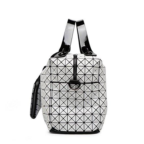 Lady Silicone Rombo Sacchetto Cuscino Cucitura Stile Giapponese Borse Cubo Piegatura Spalla Pacchetto Diagonale Borsa Casuale Quadrato White