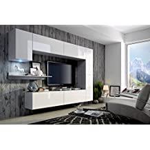 wohnzimmerm bel modern wei. Black Bedroom Furniture Sets. Home Design Ideas