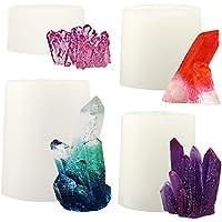musykrafties Molde de silicona con cristales de cuarzo, para resina, epoxi, jabón, vela, isomalt