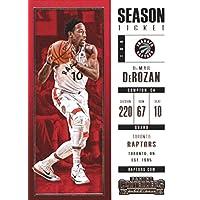 2017–18Dépasse Panini Season Ticket # 67Demar Derozan Toronto Raptors basket-ball carte