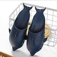 Pantofole estive per pantofole uomo e donna Dolphin Pantofole antiscivolo in plastica Sandali bagno interni ed esterni spiaggia Acquista 2 Prendi 1 , nero , 44/45
