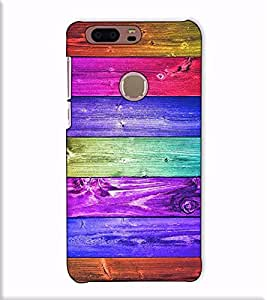 Fuson Designer Back Case Cover for Huawei Honor 8 (Colourful strips theme)