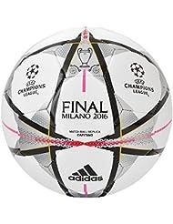 UEFA Ligue des Champions 2016 Milan - Ballon Réplique - Blanc/Noir/Argent Métallisé