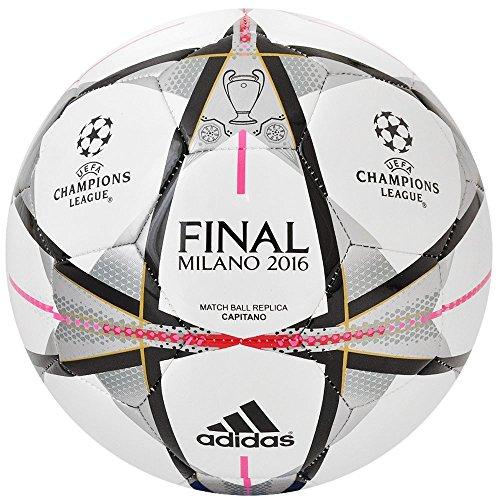 Adidas Finale Milano Capitano palloni da calcio, Unisex, Finale Milano Capitano Fußbälle, bianco, 5