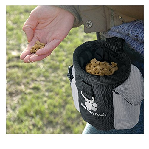 036581189caa Dog Treat Waist Pouch Bag Hands Free Pet Training Food Storage Bag with  Built-in Poop Bag Dispenser