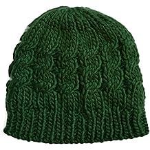 Cable de punto señoras sombrero de ganchillo Niñas Gorro para mujer  sombrero gorra invierno caliente b573cdf76bb