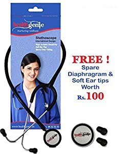 Healthgenie HG-206B Dual Child Paediatric Stethoscope AL (Black)