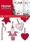 Weihnachten - Nostalgische Filzhänger Deko Aufkleber Poster-Sticker Für Fenster (30 x 20cm) - 2