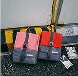 SEBAS Home Persönlichkeit Rucksäcke Mode High School Student Schultasche Casual Rucksack Reiserucksack (Color : Pink)