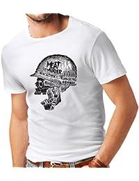 lepni.me Camisetas Hombre La Carne es un Asesinato - Cosecha 80s Vegetariana,