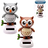 Puckator FF43 Solar-Powered Owl Ornament 6 x 6 x 10cm