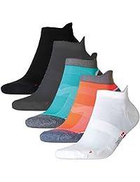 Low Cut Pro Running Chaussettes, basses, lot de 5 3 paires les hommes femmes, sport, running, baskets, sneakers, fitness, l'utilisation quotidienne, noires, blanches, grises, bleues