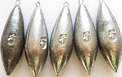 5oz Plain sea Fishing Weights Pack Of 5 by fishwithfinn