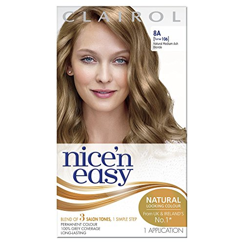 Clairol Nice N Easy Permanent Hair Colourant 106 - Natural Medium Ash Blonde (Clairol Medium Blonde)