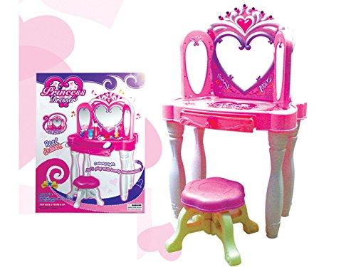 Best For Kids Schminktisch für Prinzessinen mit Hocker Schönheitsstudio - drei Spiegel