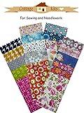 Tissu Patchwork - Jelly Roll - Lot de 20 bandes de tissu...