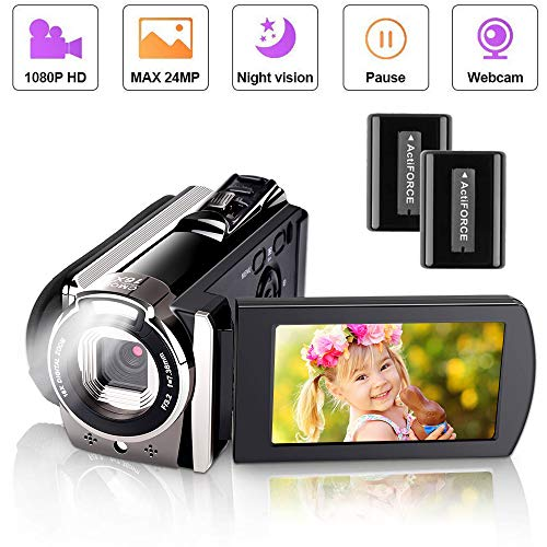 Videokamera Camcorder, iBosi Cheng Full HD 1080P Camcorder Digitalkamera für YouTube Videokamera Digitalzoom Kamerarecorder