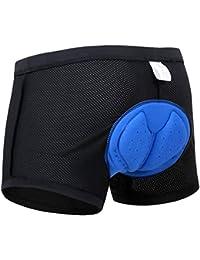 X-TIGER Hombres Ropa Interior de Bicicleta con 3D Gel Acolchado MTB Ciclismo Pantalones Cortos