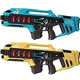 Light Battle Lasertag Spiel für Kinder: 2 Anti-Cheat Laser Tag Gewehre Kaufen - Laser Game Toy Gun für zu Hause   Blau + Gelb   LBAPG10248