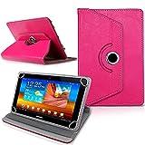 British Neocore N125,4cm Universal PU-Leder 360° Grad drehbar Winkel Ständer Case Cover Folio mit LCD Touch Screen Stylus Pen, Pink