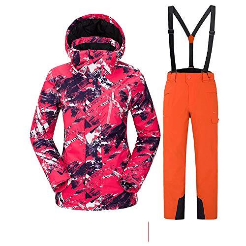 Las Mujeres Traje de esquí Conjunto de Traje de esquí para Exterior Conjunto de Traje de esquí para Mujer Conjunto de Parejas de Hombres Conjunto de Traje de Nieve Talla Extra