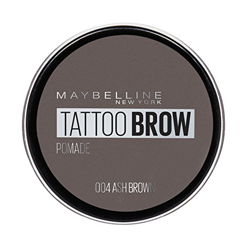 Maybelline New York Tattoo Brow sopracciglio Pomade in N. 04 Ash Brown, 4 ML