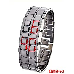 Domire Led Digital Lava Iron Style Metal Sports Watch Japanese Inspired LED Watch