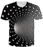 uideazone Homme T-Shirts Unisexe 3D Imprimé T-Shirt Décontractée Manches Courtes...