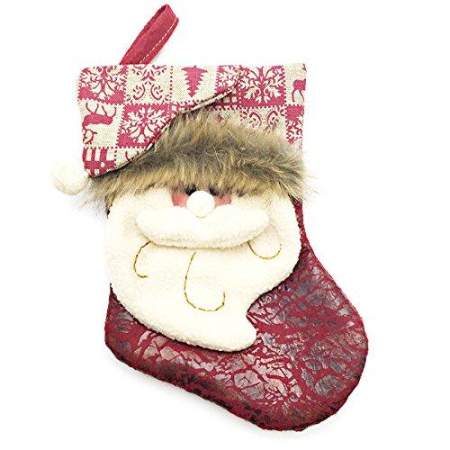 JiaCH Weihnachtsschmuck Geschenk Tasche Santa Schneemann Geschenk Socken Trompete für Dekoration Kinder Geschenk (Color : 1, Size : 22cm/8.66in)