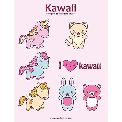 dia del libro kawaii Kawaii libro para colorear para adultos 1: Volume 1
