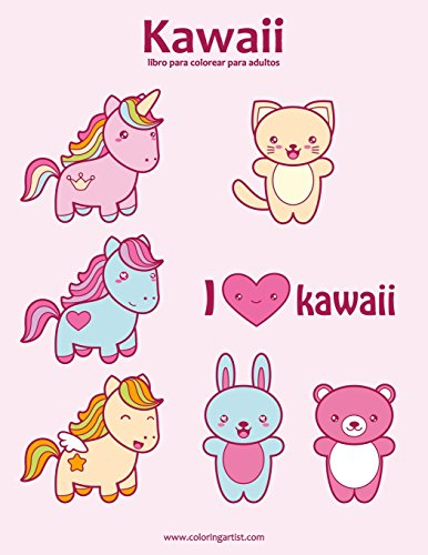 Kawaii libro para colorear para adultos 1: Volume 1 por Nick Snels