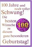 metalum Premium-Glückwunschkarte zum 100. Geburtstag mit hochwertiger Metallverzierung