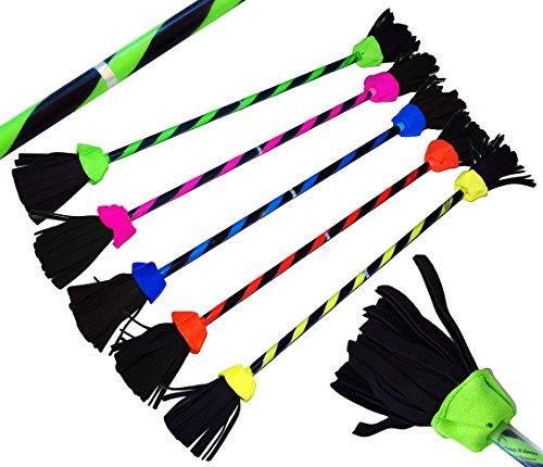 FLASH Flowerstick. Profi Jonglage-Stick. Flames N Games Devilsticks für Anfänger und Profis. *NO Handstäbe incl - Flowerstick nur. (Grun)