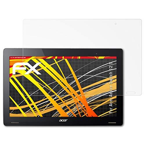atFolix Schutzfolie kompatibel mit Acer Aspire Switch 12 S Bildschirmschutzfolie, HD-Entspiegelung FX Folie (2X)