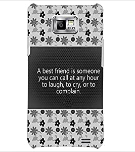 PrintDhaba Quote D-4681 Back Case Cover for SAMSUNG GALAXY S2 (Multi-Coloured)