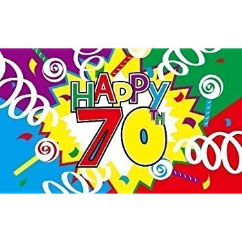 Happy 70Th Birthday Flag 5Ft X 3Ft Celebration Party Banner With 2 Eyelets New