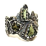 Moldavit Ring Schmuck – Sterling Silber – Forest Design moldr16 a02
