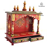 Wooden Temple/ Home Temple/ Pooja Mandir/ Pooja Mandap/ Temple for Home By Kamdhenu Art And Craft 20